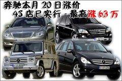 奔驰本月20日涨价 4S店已实行-最高涨63万