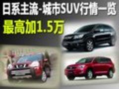 日系主流-城市SUV行情一览 最高加1.5万