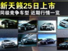新天籁今日上市 8款中级车近期行情一览