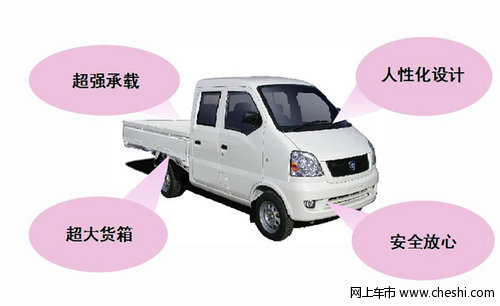 赤峰购 哈飞民意双排货车 赠2000元大礼包 赤峰高清图片