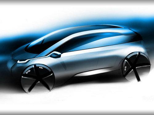 宝马i3概念车手绘图公布