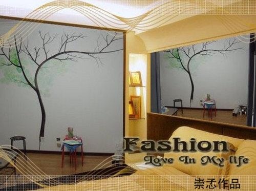 长乐未央手绘墙画工作室 让房间更漂亮!_大连车市-车