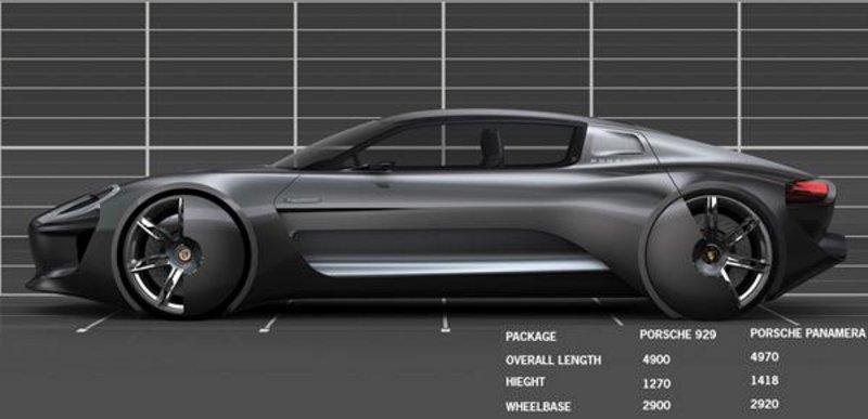 保时捷929车型设计图曝光 造型动感前卫