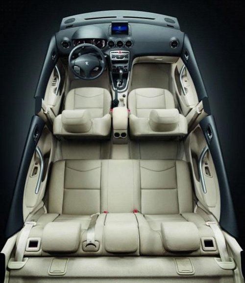 """408的结构经过了系统的精心设计,采用共同承载型""""笼式""""车身结高清图片"""