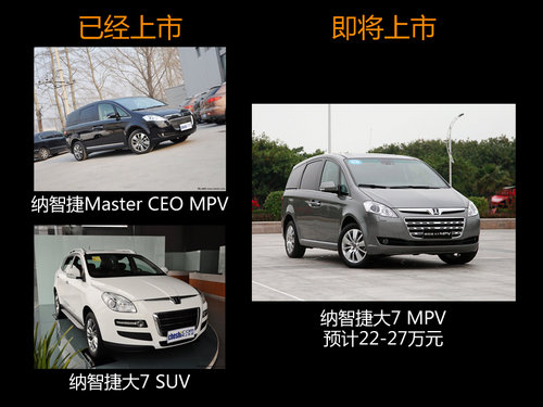 纳智捷大7-MPV 预计22-27万或月底上市