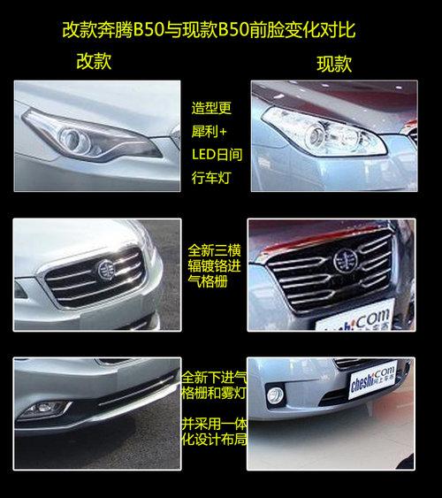 外观大变/增1.8L车型 改款奔腾B50谍照