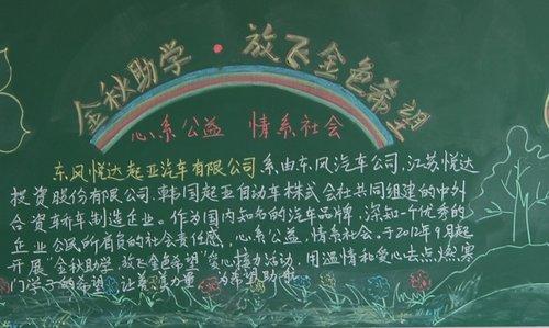 同学们手绘黑板报以示欢迎