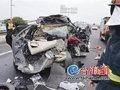 漳龙高速发生惨烈车祸 祖孙4人两死两伤