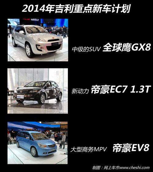 SUV对攻战 奇瑞/吉利/比亚迪2014年新车