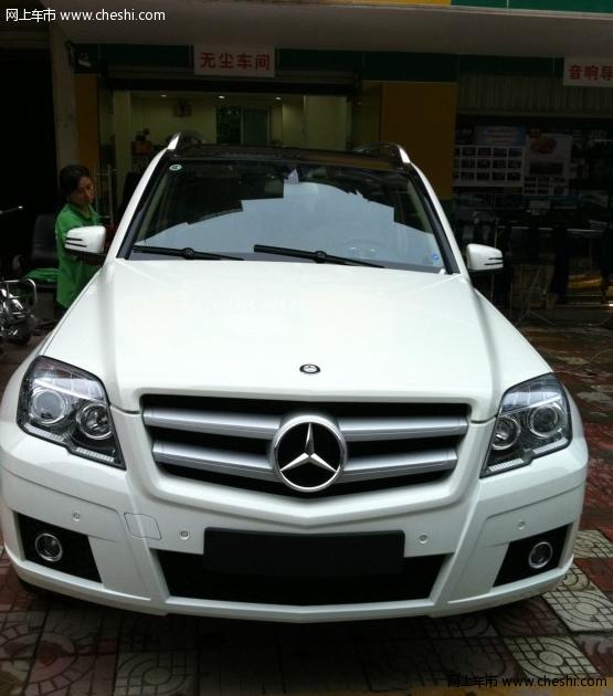 白色奔驰glk提车作业 高清图片
