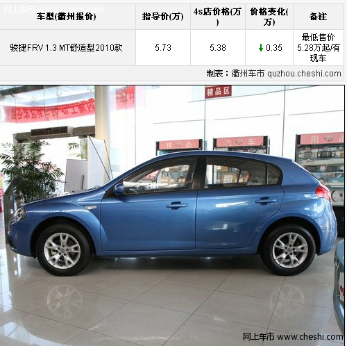中华骏捷FRV底盘扎实 最低售价5.28万元起高清图片