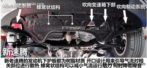 全新速腾车身结构防撞梁底盘细节点评
