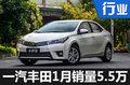 一汽丰田1月销量创新高 7款新车将上市