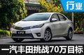 一汽丰田2017将发4款新车 冲击70万销量