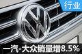 一汽-大众首月销量增8.5% 超15款新车将上市