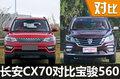 10万块买顶配 长安CX70/宝骏560哪个好?