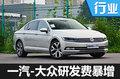 """一汽-大众2017年研发费""""暴增""""高达45亿元"""