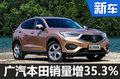 广汽本田销量增长近四成 讴歌销量翻倍