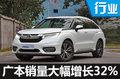 广汽本田销量大幅增长32% SUV为主力军
