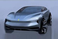 法拉利纯电SUV假想图 极具科技感神似特斯拉皮卡