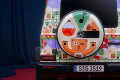 奔驰全新G级圣诞特别版 卡通涂装/搭配AMG运动轮毂