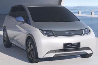 比亚迪高端电动车实拍 全新平台打造 搭刀片电池