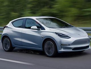 特斯拉全新车型曝光 两厢外观 或明年亮相