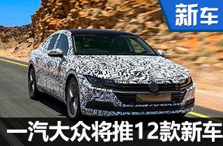 一汽大众将投产12款新车 包含多款SUV