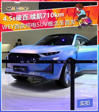 4.5s破百,续航710km,WEY首款纯电SUV概念车首发