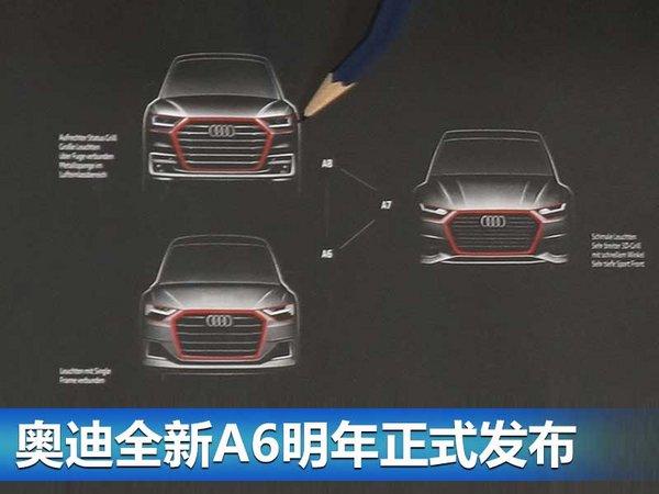 奥迪新一代A6最新图片曝光 贯穿式尾灯设计-图4