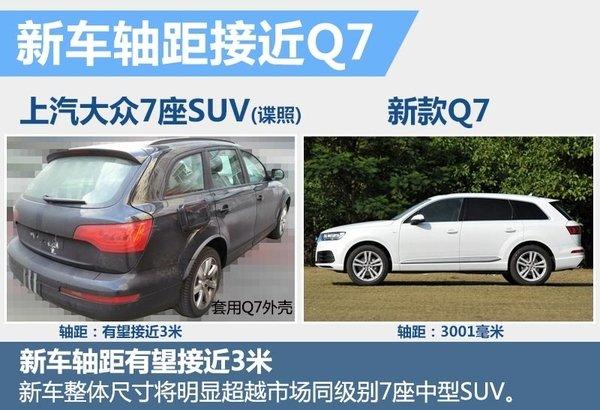 上汽大众全新7座SUV明年上市高清图片