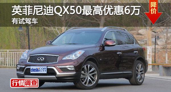 英菲尼迪QX50优惠6万元 降价竞争奥迪Q5-图1