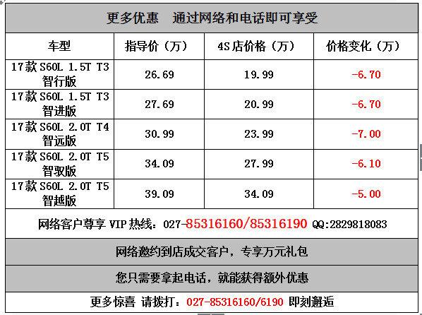 武汉沃尔沃S60L19.99万元起日供9元-图4