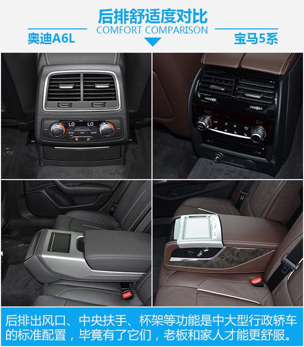 全能型豪华轿车如何选? 奥迪A6L对比宝马5系-图8