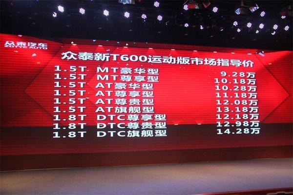 众泰新T600运动版上市暨众泰全系抢购会-图8