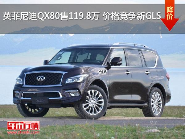 英菲尼迪QX80售119.8万 价格竞争新GLS-图1