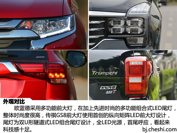 2047 广汽三菱欧蓝德 对比 广汽传祺GS8-图7