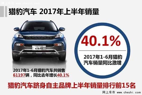 增长40.1%  猎豹跻身自主品牌销量TOP15-图1