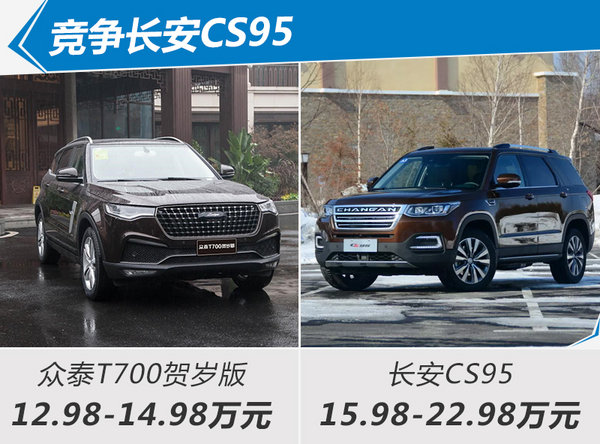 众泰T700贺岁版正式上市 售12.98-14.98万元-图3