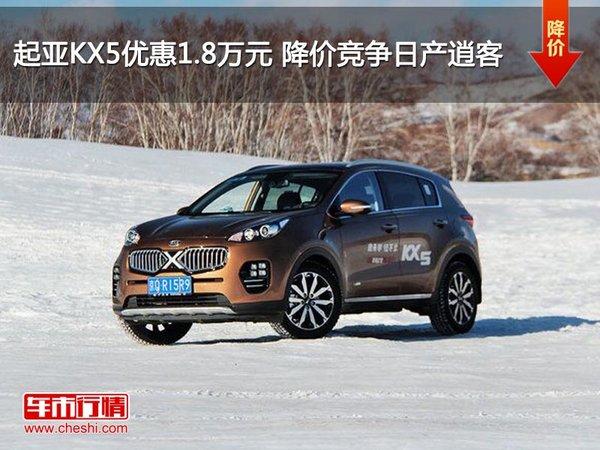 起亚KX5优惠1.8万元 降价竞争日产逍客-图1