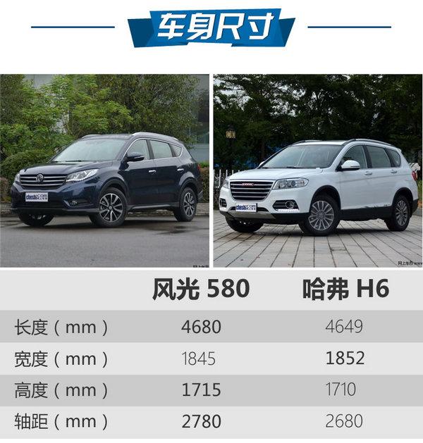 10万级自动挡SUV怎么选 风光580对比H6-图3