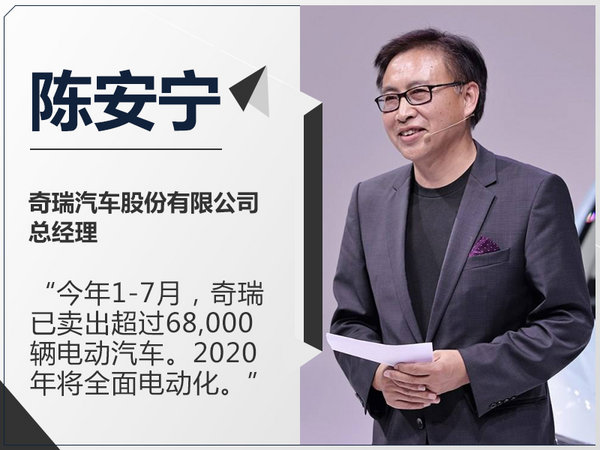 陈安宁:奇瑞1-7月电动车销6.8万 2020年将普及-图1