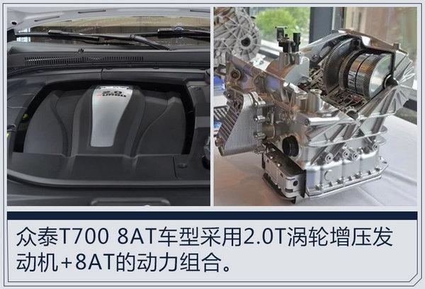 众泰T700 8AT版后天上市 预售最高14.58万元-图6