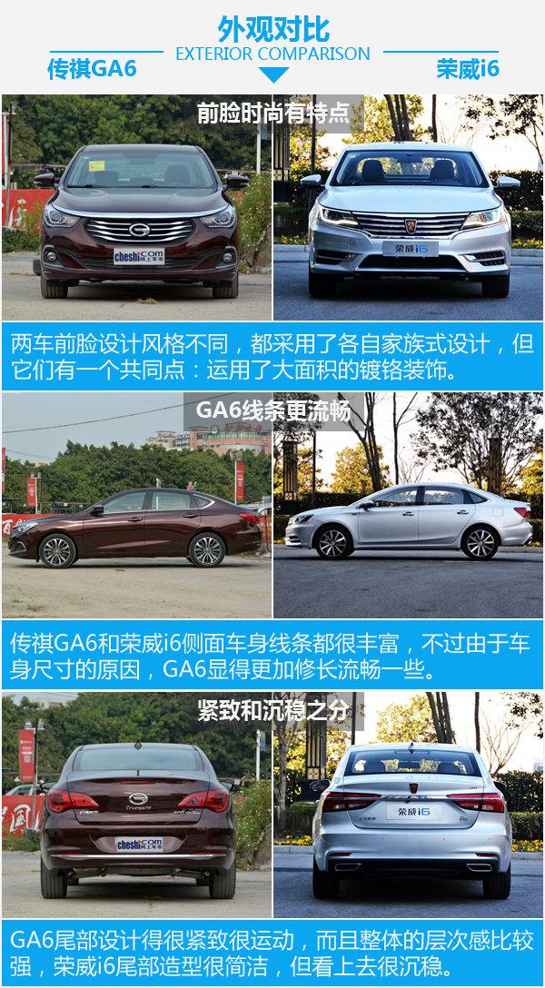 两位选手都非常6 广汽传祺GA6对比荣威i6-图4