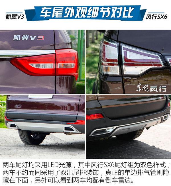 8万块买七座SUV 凯翼V3对比风行SX6-图7