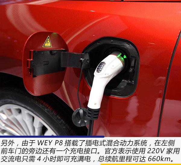 紧跟新能源车潮流 广州车展实拍体验WEY P8-图10