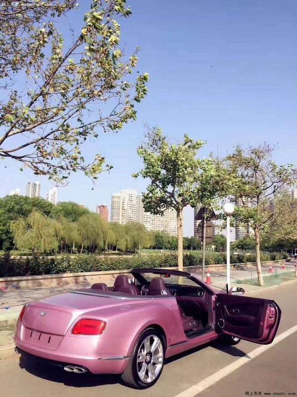 宾利GTC敞篷超跑 全球限量版粉色更浪漫-图7