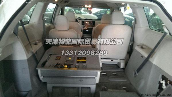 丰田塞纳3.5l商务车座椅空间高清图片