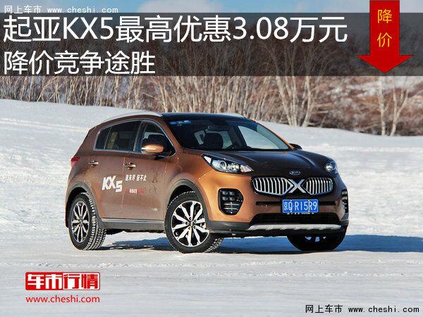 起亚KX5最高优惠3.08万元 降价竞争途胜-图1
