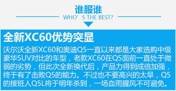 40多万SUV你选谁 沃尔沃全新XC60对比奥迪Q5-图7